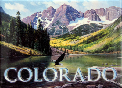 Colorado Mountain Scene Magnet
