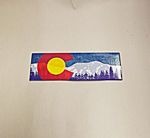 Colorado C Mountain Sparkle Magnet
