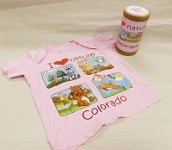 I Heart Nature Colorado Kids Pink T-shirt
