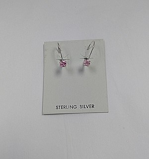 TYL Pink Tourmaline in Silver Earrings