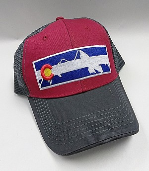 Colorado Mountain Flag Mesh Hat