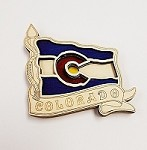Colorado Flag Wooden Magnet