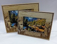 Wooden Colorado Picture Frames 5x7