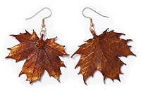 Copper Sugar Maple Leaf Earrings