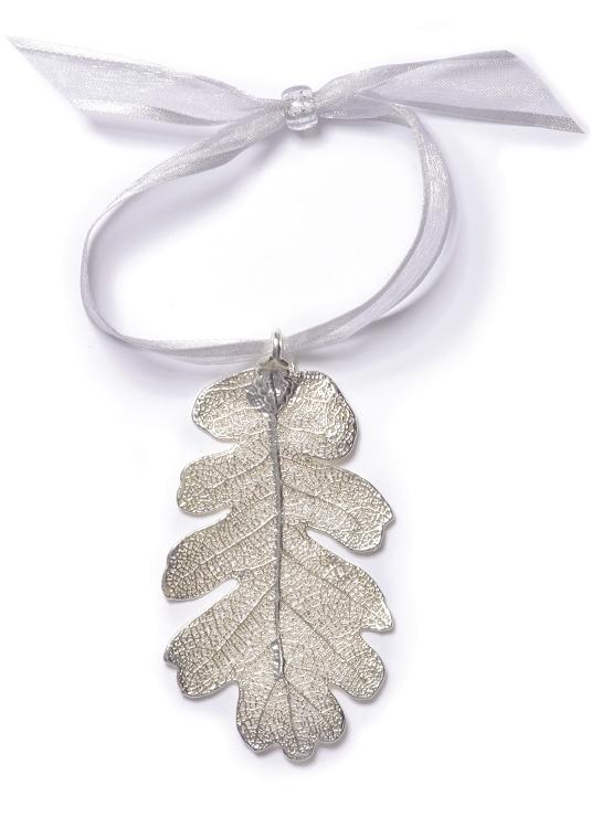 silver oak leaf ornament 300071 made in colorado