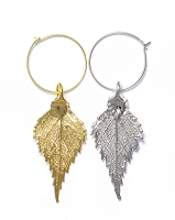 Birch Leaf Wine Charms