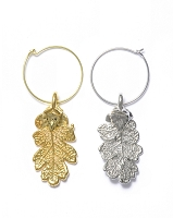 Oak Leaf Wine Charms