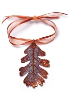 Copper Oak Leaf Ornament