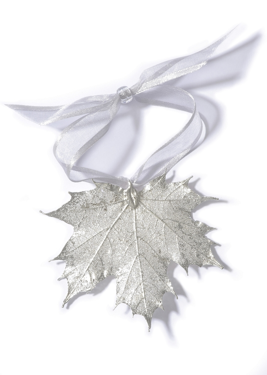 silver maple leaf ornament 100079 silver maple leaf ornament 100079