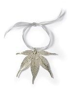 Silver Japanese Maple Leaf Ornament