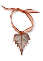 Copper Birch Leaf Ornament