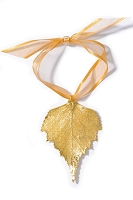 Gold Birch Leaf Ornament