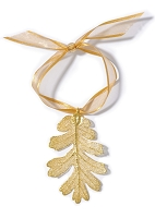 Gold Oak Leaf Ornament