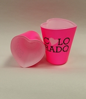 Pink Heart Colorado Shot Glass