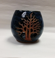 Ceramic Candle Holder With Tree Design