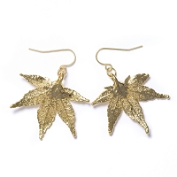 Gold Japanese Maple Leaf Earrings