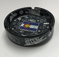 Black Colorado Flag Ash Tray