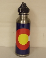 Stainless Steal Colorado Flag Water Bottle