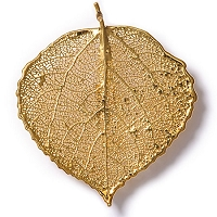 Aspen Leaf Lace Brooch Pin (GOLD)