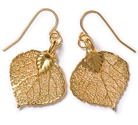 Aspen Leaf Lace Earrings (GOLD)