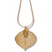 Aspen Leaf Lace Necklace (GOLD)
