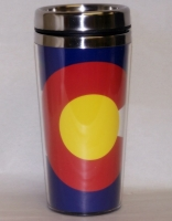 Colorado Flag Travel Coffee Mug