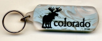 Colorado Frosted Moose Keychain