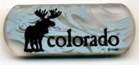 Colorado Frosted Moose Magnet