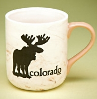 Colorado Frosted Moose Mug