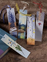 Hand Painted Watercolor Bookmark