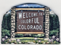 Colorful Colorado Sign Magnet