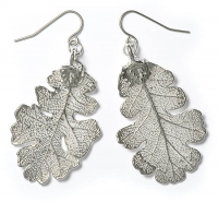 Oak Lace Leaf Earrings
