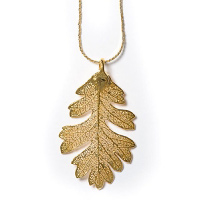 Oak Lace Leaf Necklace