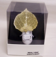 Real Gold Aspen Leaf Night Light