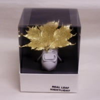 Real Gold Maple Leaf Night Light