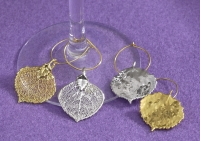 Aspen Leaf Wine Charms