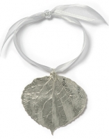 Solid Aspen Leaf Ornament