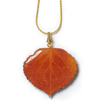 Natural Aspen Leaf Necklace