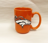 Orange Denver Broncos Mug