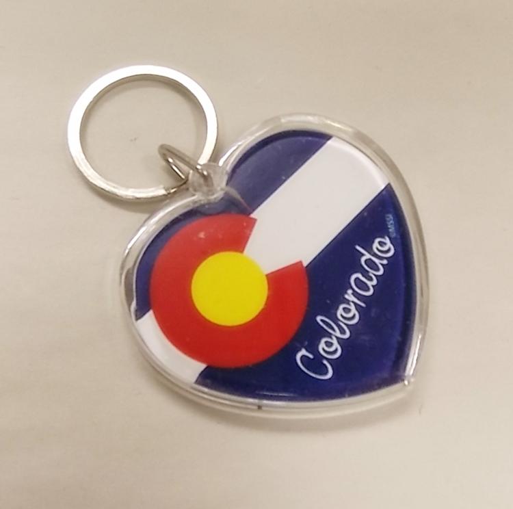Colorado State Flag Copper Colorado Flag Keychain Colorado Lover Rustic Copper Keychain Love Colorado Colorado Pride Colorado Souvenir