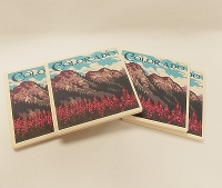 Colorado Mountain Scene 4 Pack Coasters