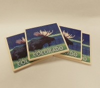 Colorado Moose 4 Pack Coasters