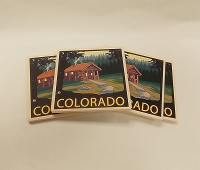 Colorado Cabin in the Woods 4 Pack Coasters