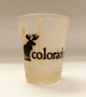 Frosted Moose Shot Glass