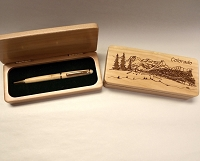 Colorado Scene Wood Box and Pen