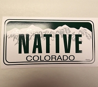 CO License Plate Native Sticker