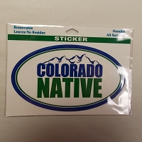 Colorado Native Oval Sticker
