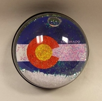 Colorado Flag Snowglobe Magnet