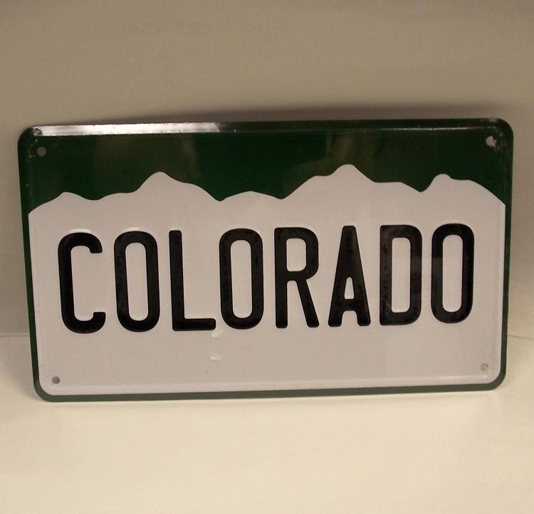Colorado License Plate Small