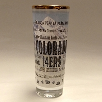 Colorado 14ers Tall Shot Glass